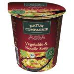 Vegansk kopnuddel grøntsagssmag